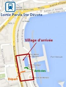 Plan Gare + Village départ